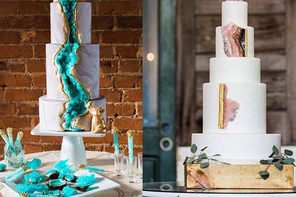 Tres Click Hochzeit Hochzeitstorte Kuchen Kristalle Edelsteine