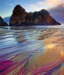 tres-click-strand-regenbogen-lila-kalifornien