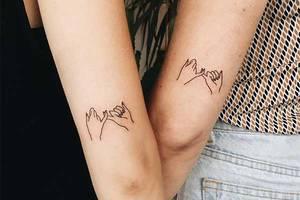 Schwestern-Tattoo