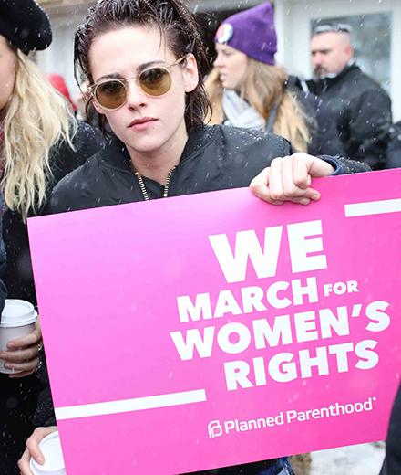 PARK CITY, UT – JANUARY 21: Kristen Stewart attends the Women's March on Main Street Park City on January 21, 2017 in Park City, Utah