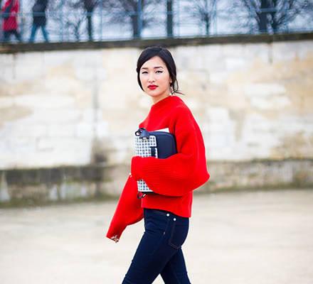 Rote Pullis werden DER Herbst-Trend.