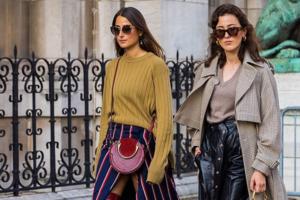 Fashion-Trend: Sweater mit Midiröcken kombinieren